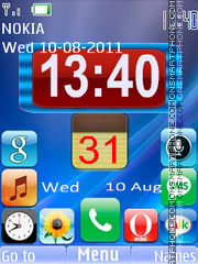 Android Style Clock theme screenshot