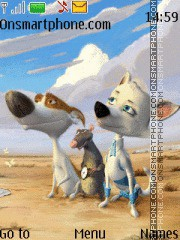 Space Dogs theme screenshot