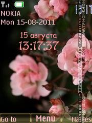 Apple tree blossom theme screenshot