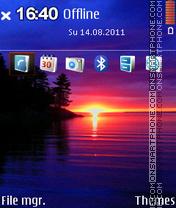 Sunset Bliss 01 theme screenshot