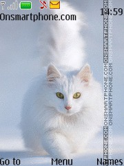 White Sweet Cat tema screenshot
