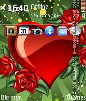 Valentine day Hearts es el tema de pantalla