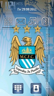 Manchester City tema screenshot