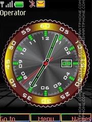 Clock date swf theme screenshot