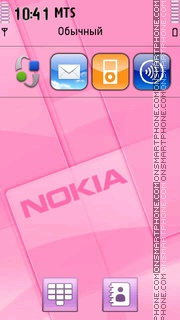 Pink Nokia 02 theme screenshot