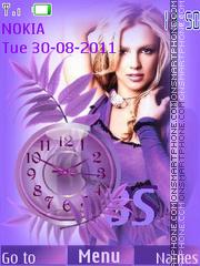 Britney Spears theme screenshot