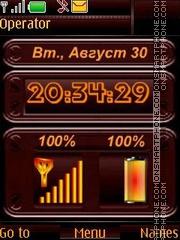 Indicators clock date swf theme screenshot