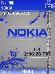 Nokia Clock 11 theme screenshot