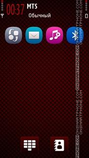 Symbian Anna Red theme screenshot