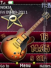 Guitar Clock 3d es el tema de pantalla