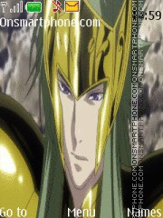 Degel de Acuario Saint Seiya Lost Canvas theme screenshot