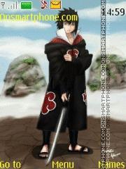 Sasuke Akatsuki theme screenshot