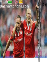 Arjen Robben theme screenshot