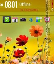 Cute Flowers 03 es el tema de pantalla
