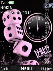 Dices Dual Clock theme screenshot