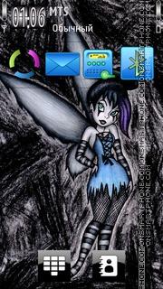 Gothic Tinker Bell es el tema de pantalla