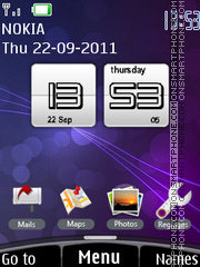 Htc Sense Clock theme screenshot