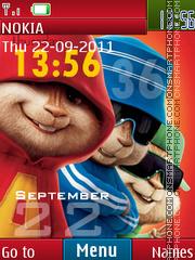 Chipmunk Clock theme screenshot