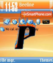 Orange Revisited 3 theme screenshot