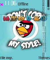 Dont copy my style es el tema de pantalla