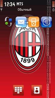 A.C. Milan theme screenshot