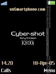 Cyber-shot K800i es el tema de pantalla