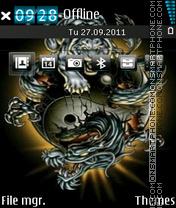 Tiger and Dragon theme screenshot