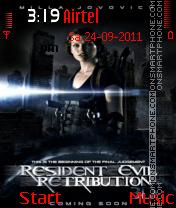 Resident Evil Retribution 2012 es el tema de pantalla