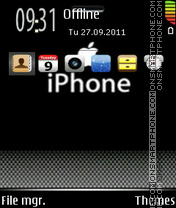 Iphone Tech theme screenshot
