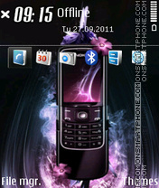 Nokia 8800 Arte theme screenshot
