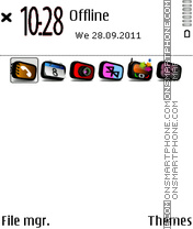 White Black 01 es el tema de pantalla