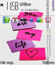 My life es el tema de pantalla