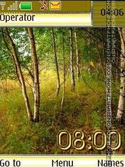 Autumn birch swf es el tema de pantalla