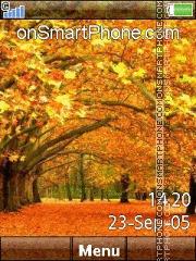 Autumn Best es el tema de pantalla