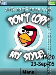 Angry Birds 11 es el tema de pantalla