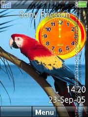 Parrot Clock 02 es el tema de pantalla