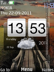Htc Widget Clock theme screenshot