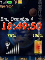 Space clock indicators swf es el tema de pantalla