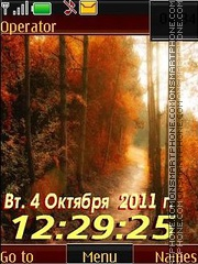 Autumn morning12 swf es el tema de pantalla