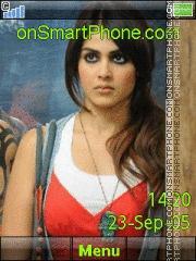 Genelia Dsouza 09 theme screenshot