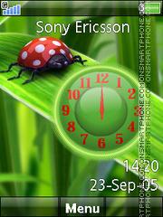 Ladybug Nature Clock es el tema de pantalla