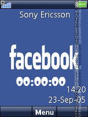 Facebook Clock es el tema de pantalla