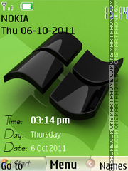 Windows 7 Clock 01 theme screenshot