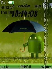 Android Rain Clock es el tema de pantalla
