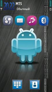 Blue Android Hd tema screenshot