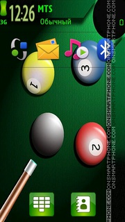 Snooker 01 theme screenshot