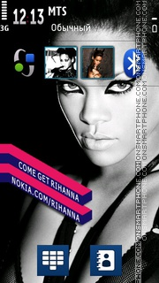 Rihanna Music Icons theme screenshot