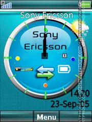 Sony Ericsson Clock 03 es el tema de pantalla
