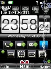 Iphone flash es el tema de pantalla