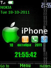 iPhone Clock es el tema de pantalla